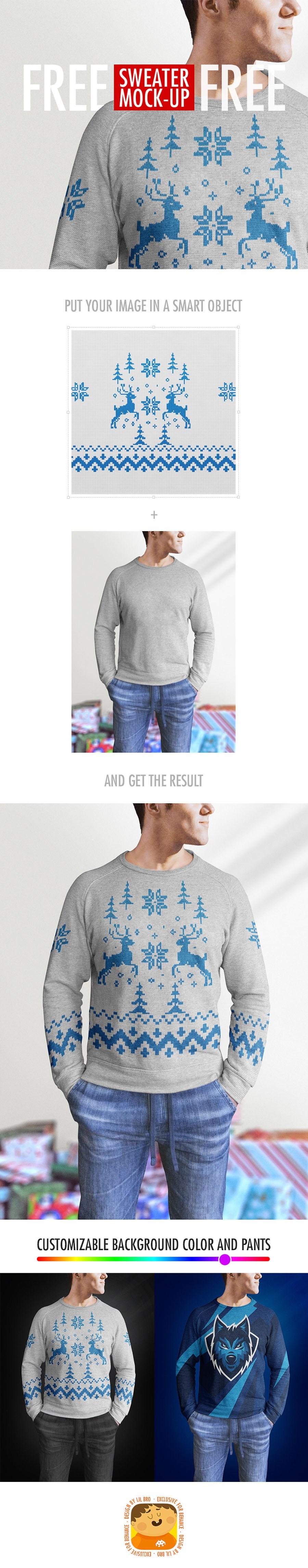 Realistic Men Sweater Design