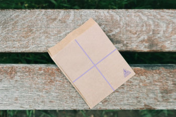 Free High Quality Paper Envelope Mockup in PSD