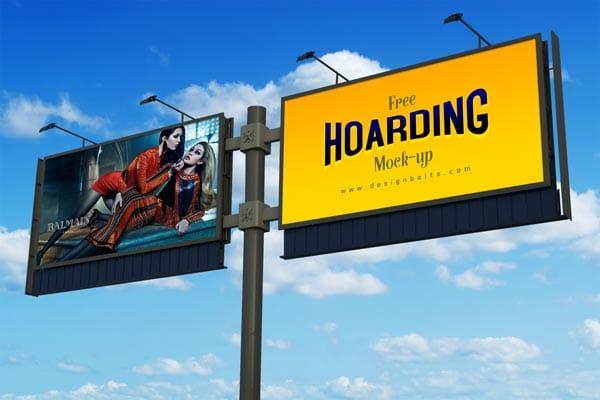 Frontlit Hoarding PSD Mockup Design