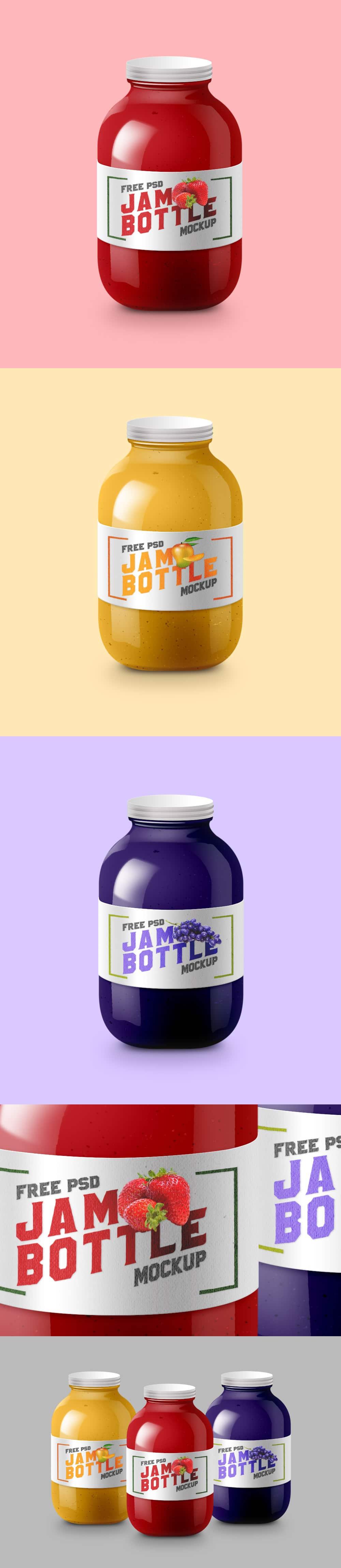 Glossy Jam Bottle