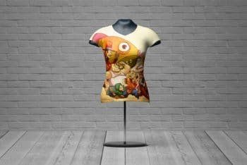 Free Fit Female Shirt Mannequin Mockup in PSD