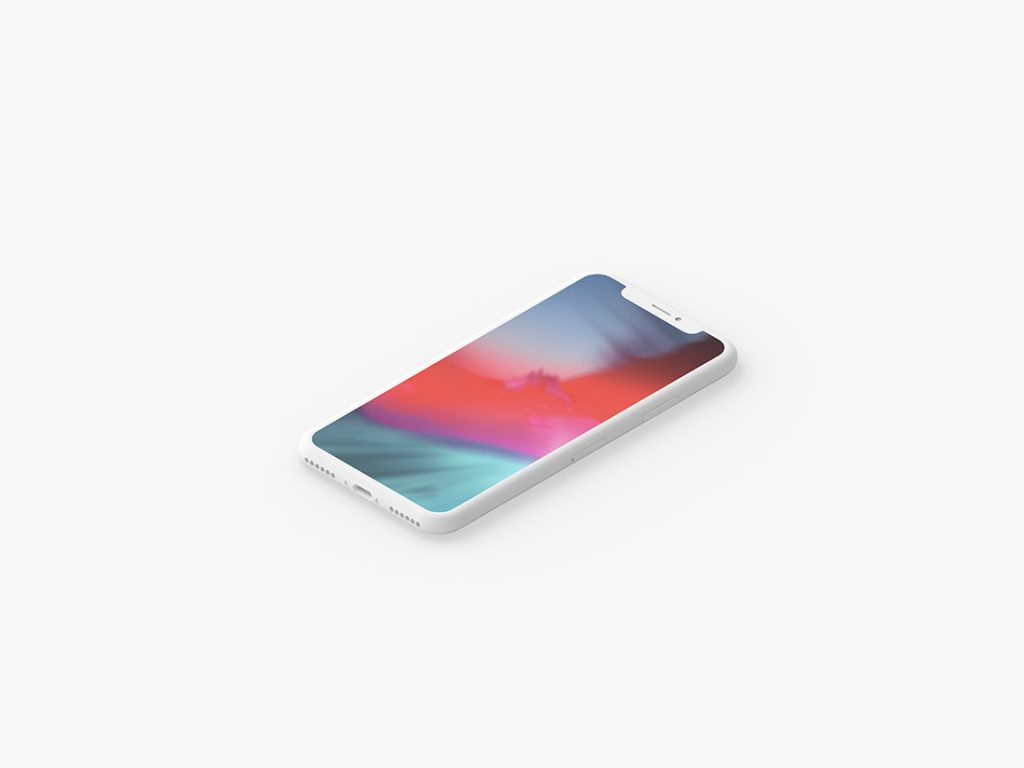 Minimal Clay iPhone X