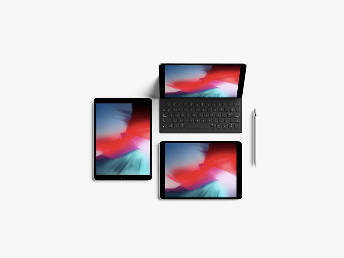Top View iPad Pro Plus Accessories