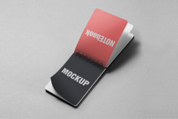 Free Small Pocket Notebook Mockup in PSD
