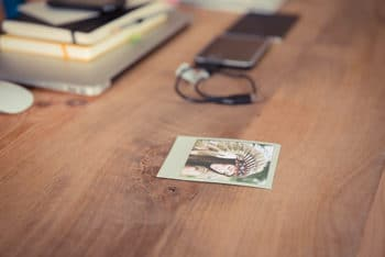 Free Polaroid Photo Template Mockup in PSD
