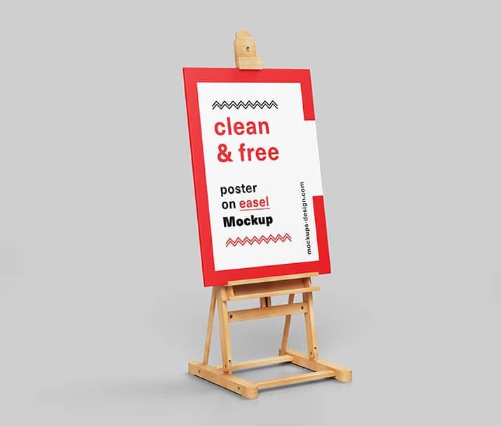 Poster Plus Easel Scene