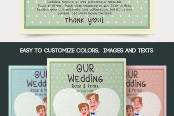 Cute & Sober Wedding Flyer PSD Mockup