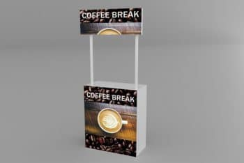 Free Promotional Stand Design Mockup in PSD