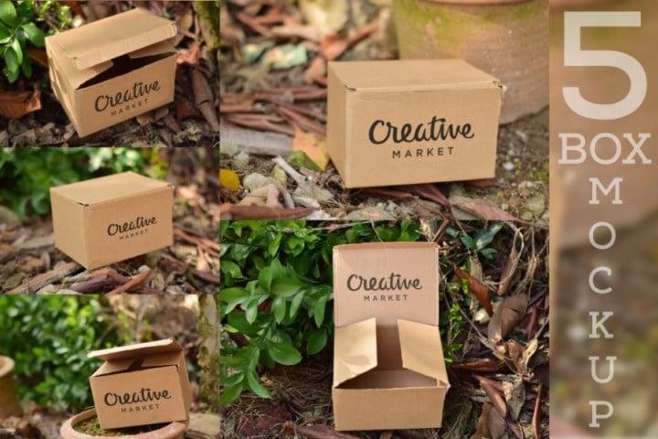Five Cardboard Boxes