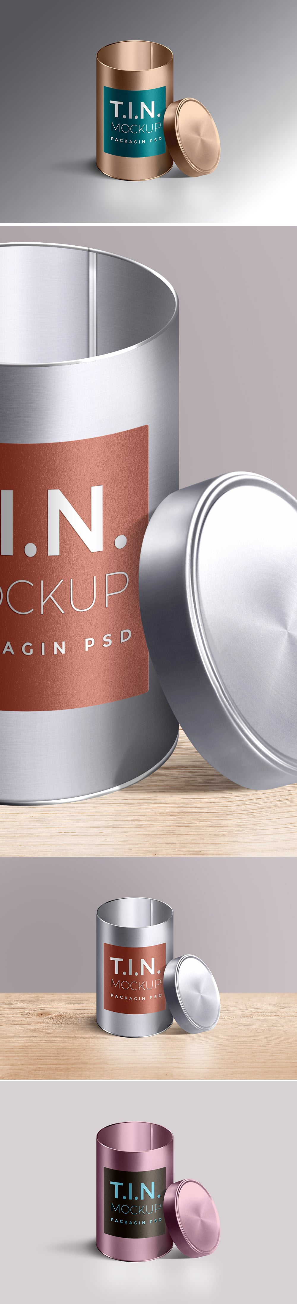 Cylindrical Tin Container