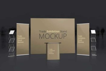 Free Trade Exhibition Booth Mockup in PSD