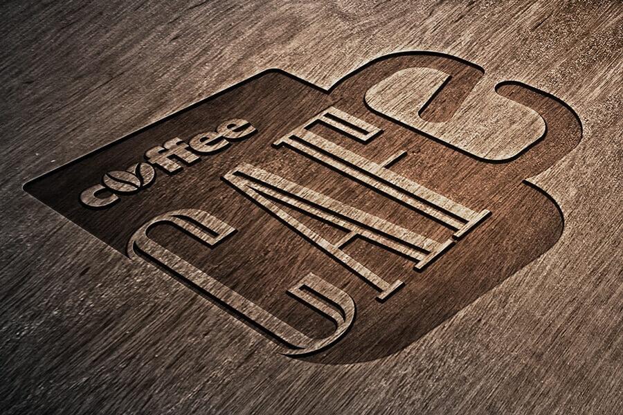 Engraved Wooden Logo