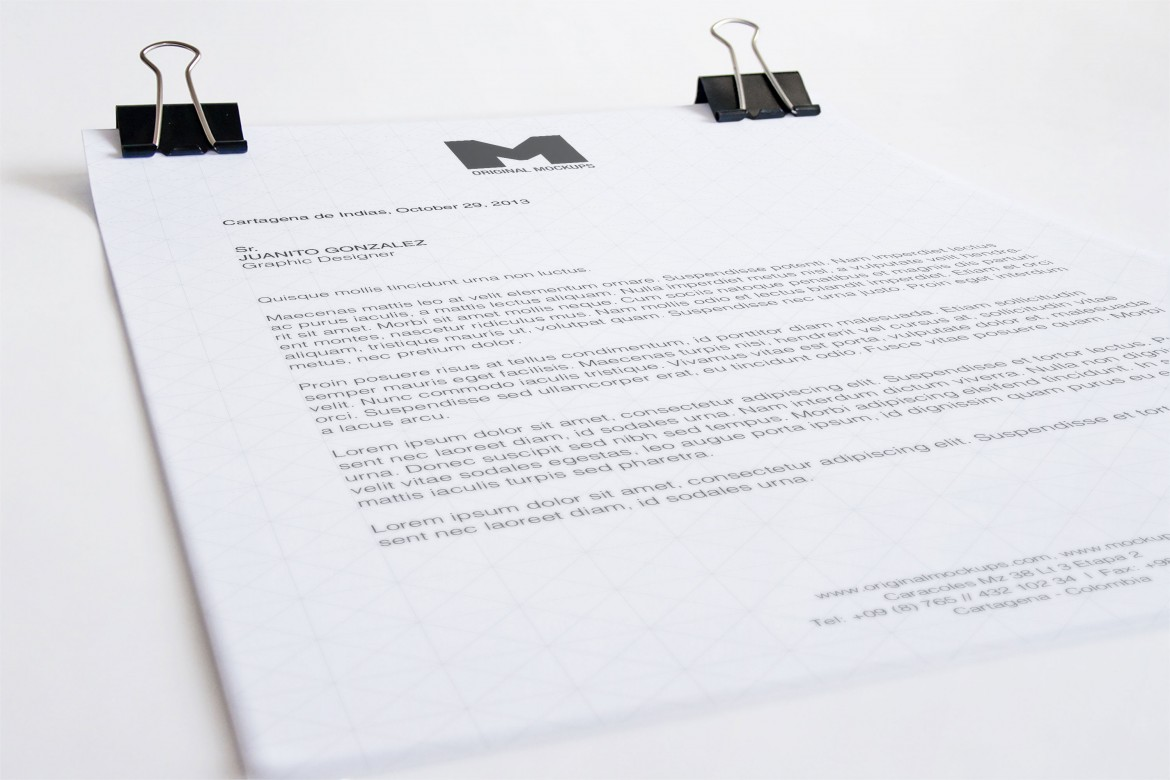 letterhead psd mockup available in a4 size