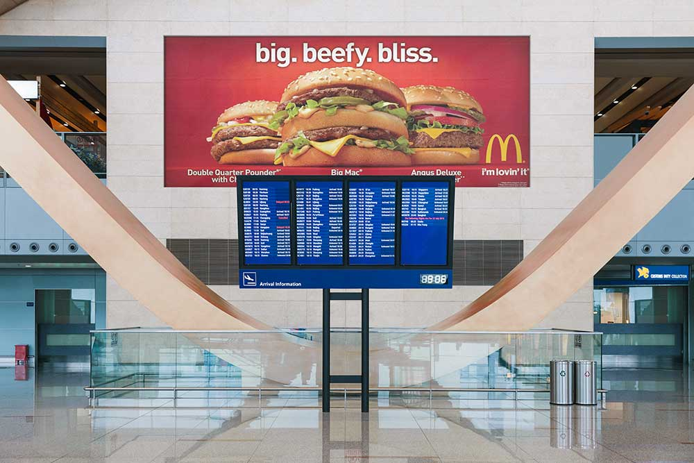 airport billboard psd mockup