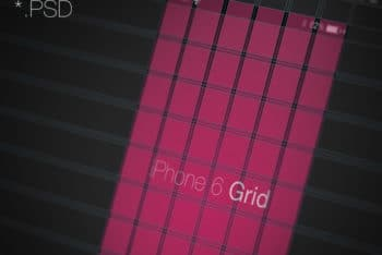 Free iPhone Screen Grid Mockup in PSD