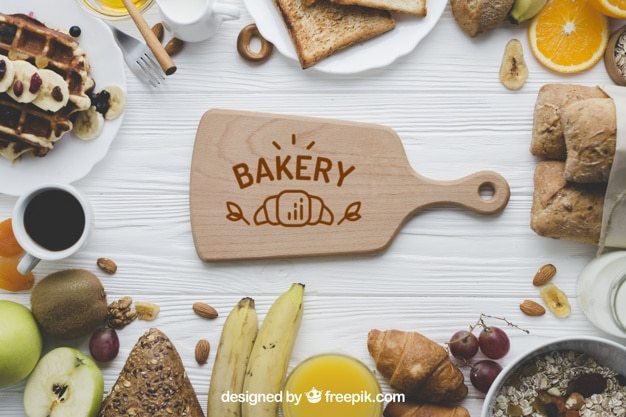 Top View Bakery Scene