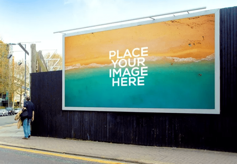 billboard psd mockup template download free designhooks