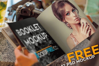 Easy to Use Booklet PSD Mockup