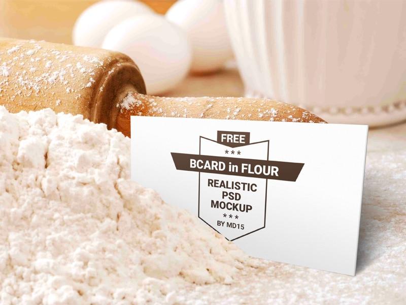 Bakery Flour Plus Business Card