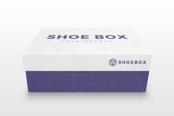 Realistic Minimalist Shoe Box Mockup Freebie
