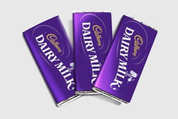 Chocolate Bar Packaging Mockup In PSD
