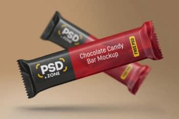 Chocolate Candy Bar Mockup