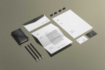 Free Stationery Branding Mockup in PSD