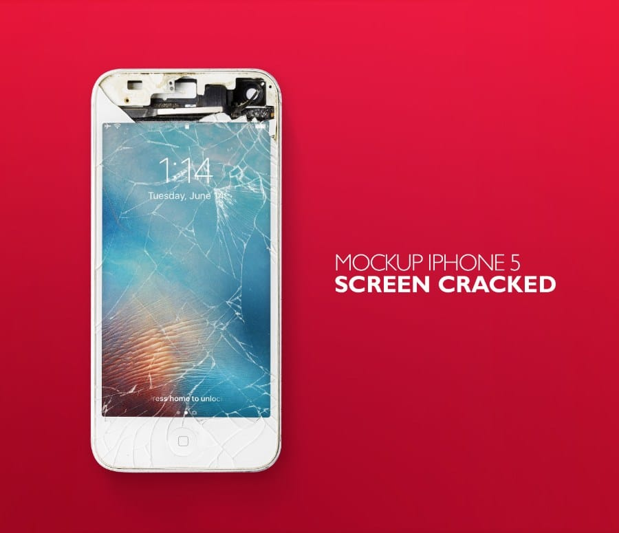 Cracked iPhone Scene