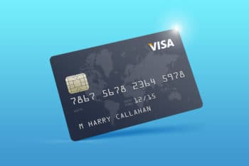 Free Realistic Credit Card Design Mockup in PSD