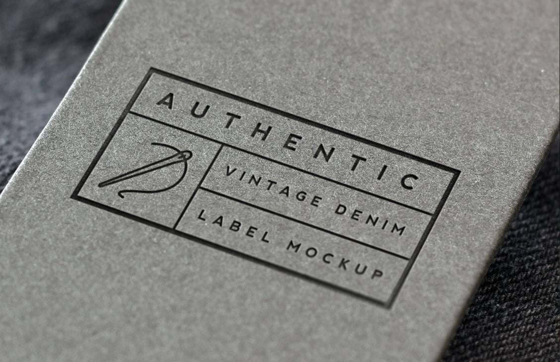 Vintage Denim Label Logo