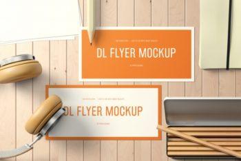 Free Landscape Flyer Design Mockup in PSD