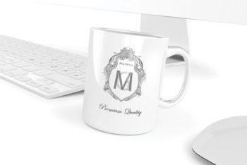 Premium Quality Mug PSD Mockup