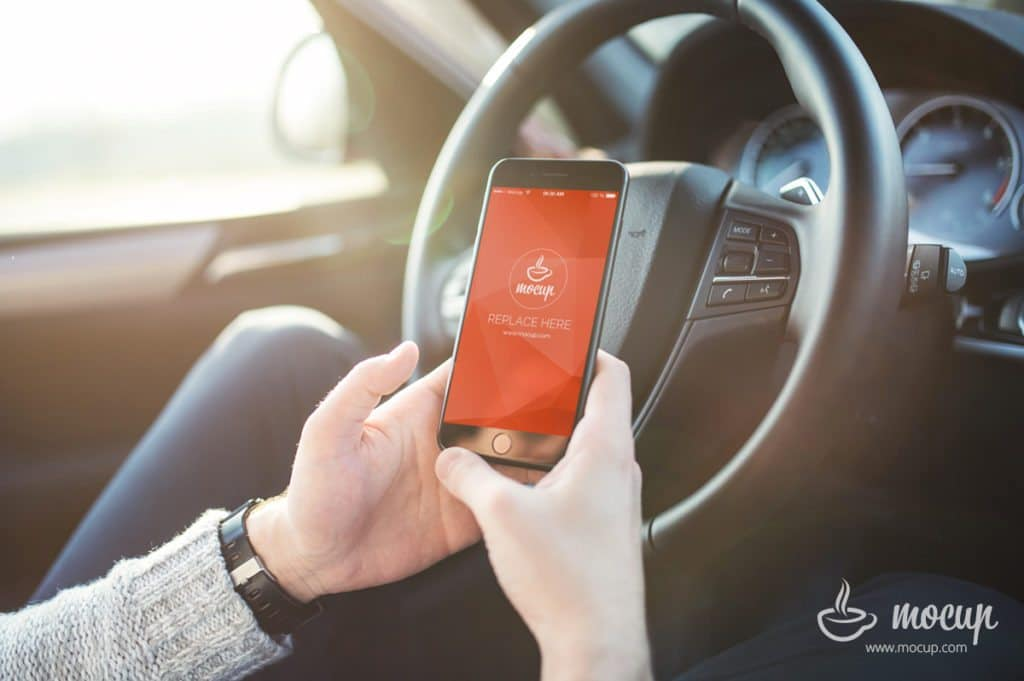 iPhone Plus Driving Scene