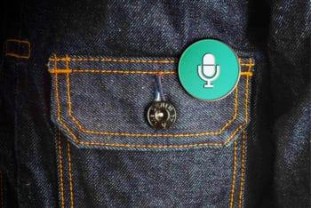 Free Customizable Enamel Pin Design Mockup in PSD