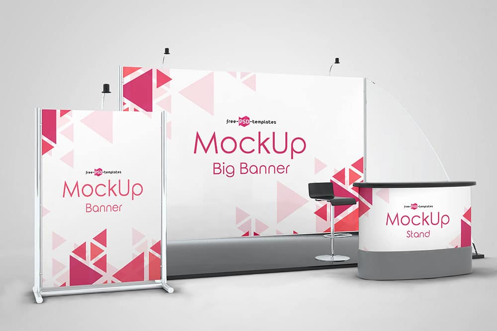 Exhibition Stand Design Mockup Free Download : Download this free exhibition stand mockup in psd