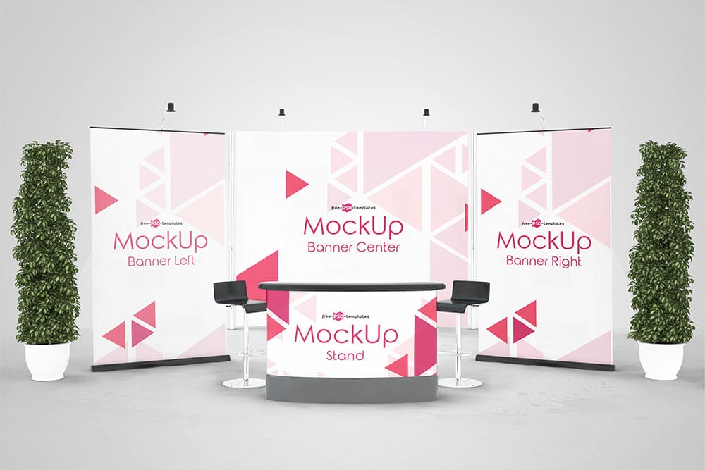 Exhibition Stand Freebies : Download this free exhibition stand mockup in psd
