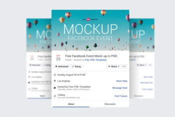 Free Facebook Event Page Mockups