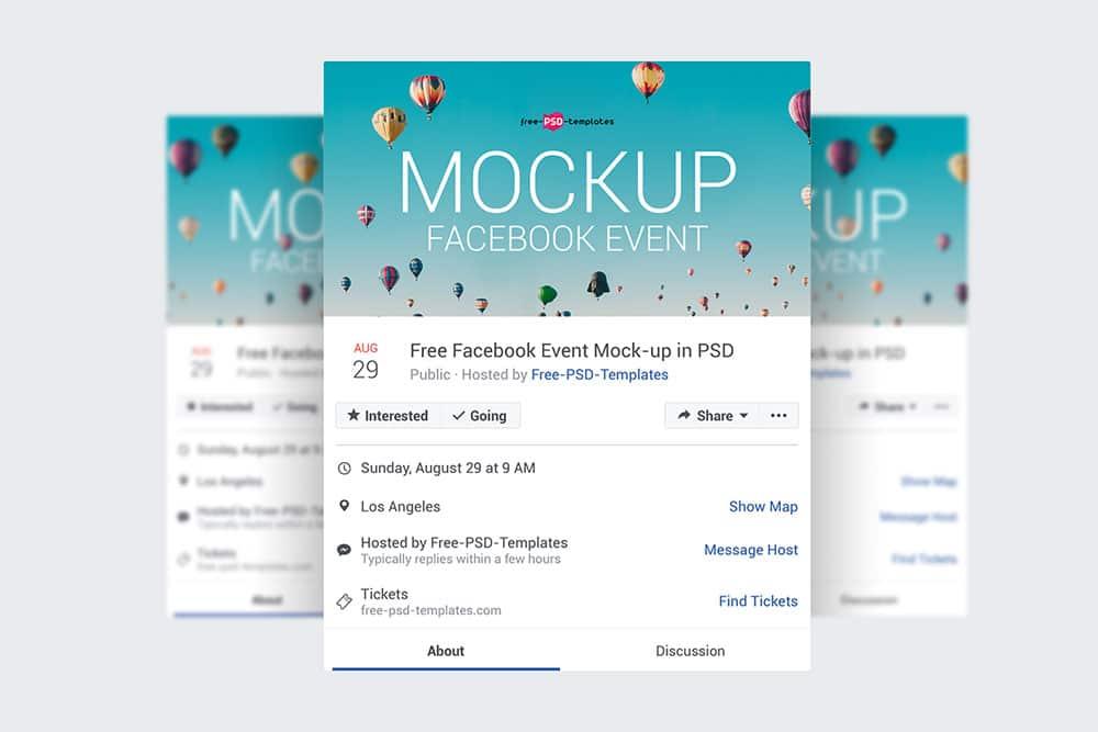 facebook event page mockups