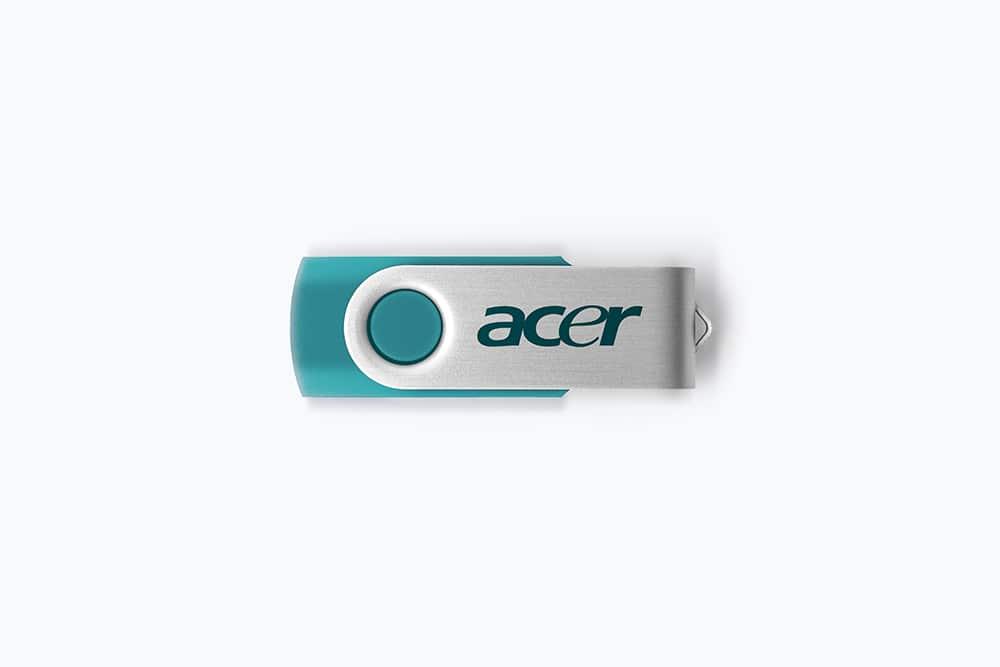 free flash drive psd mockup