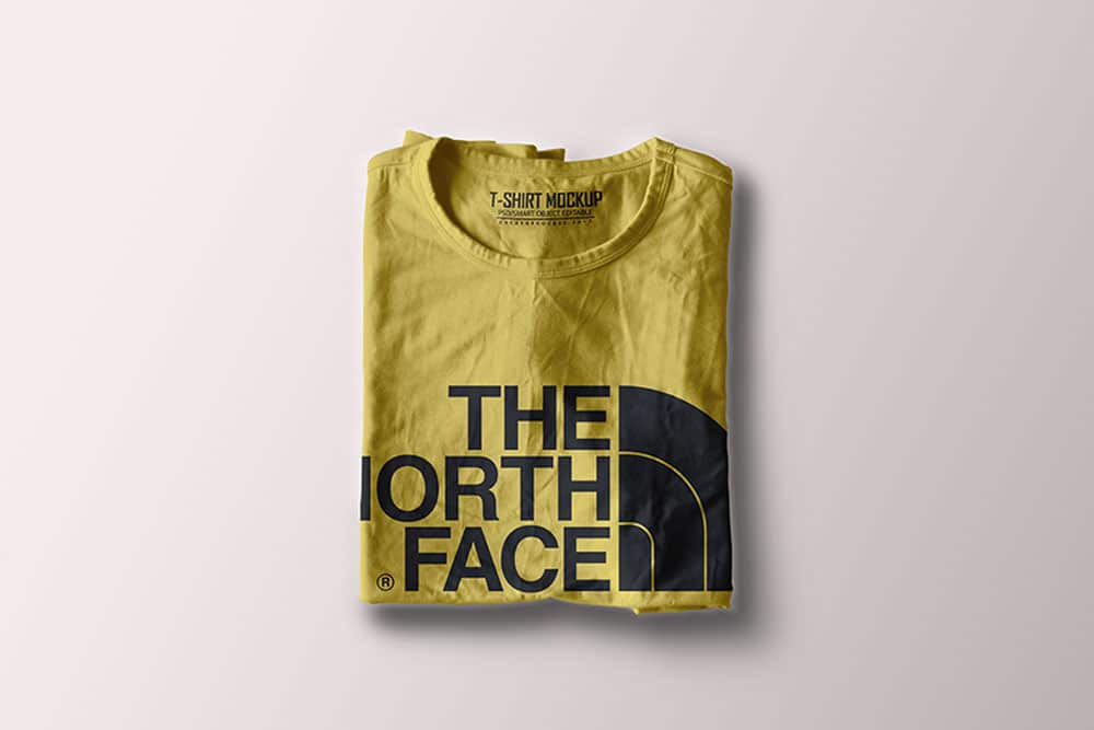 download this folded t-shirt mockup in psd
