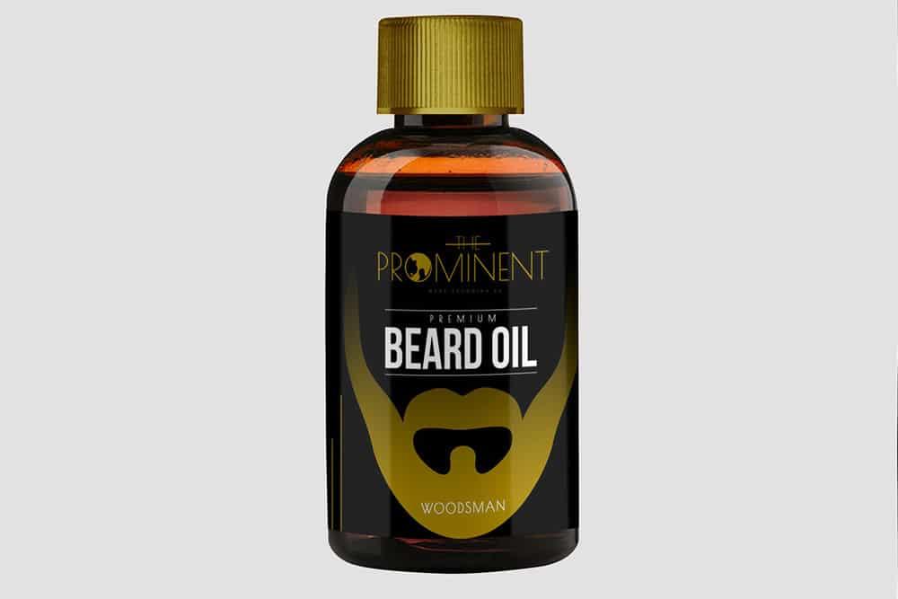 free beard oil bottle psd mockup