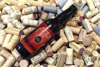 Beer Bottle Plus Corks Mockup Freebie in PSD