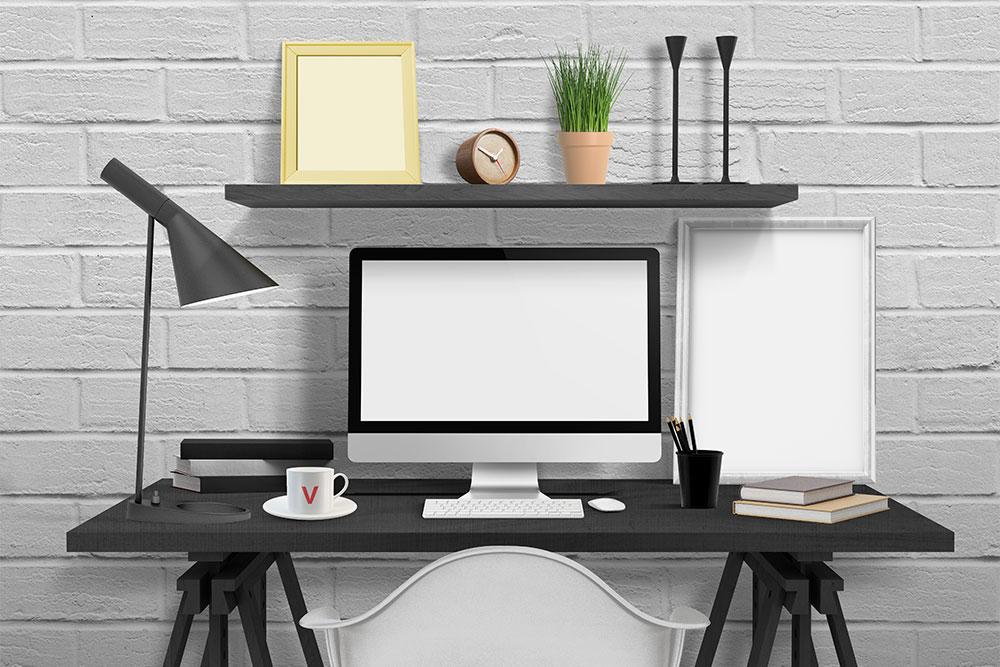 free desk mockup