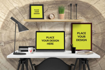 Free Desk Mockup In PSD