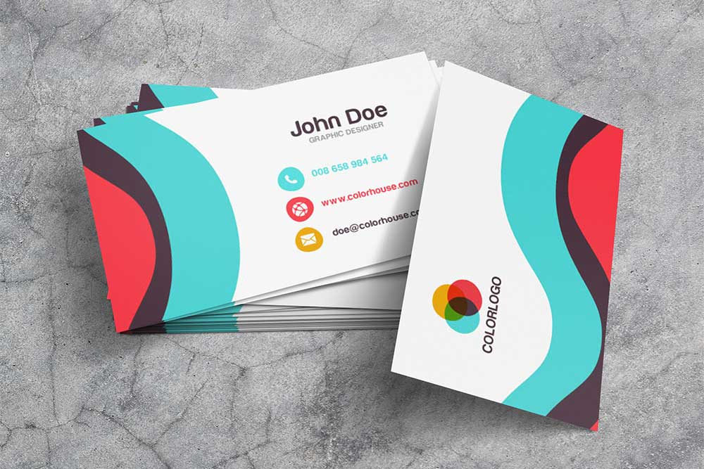 free download business card psd mockup