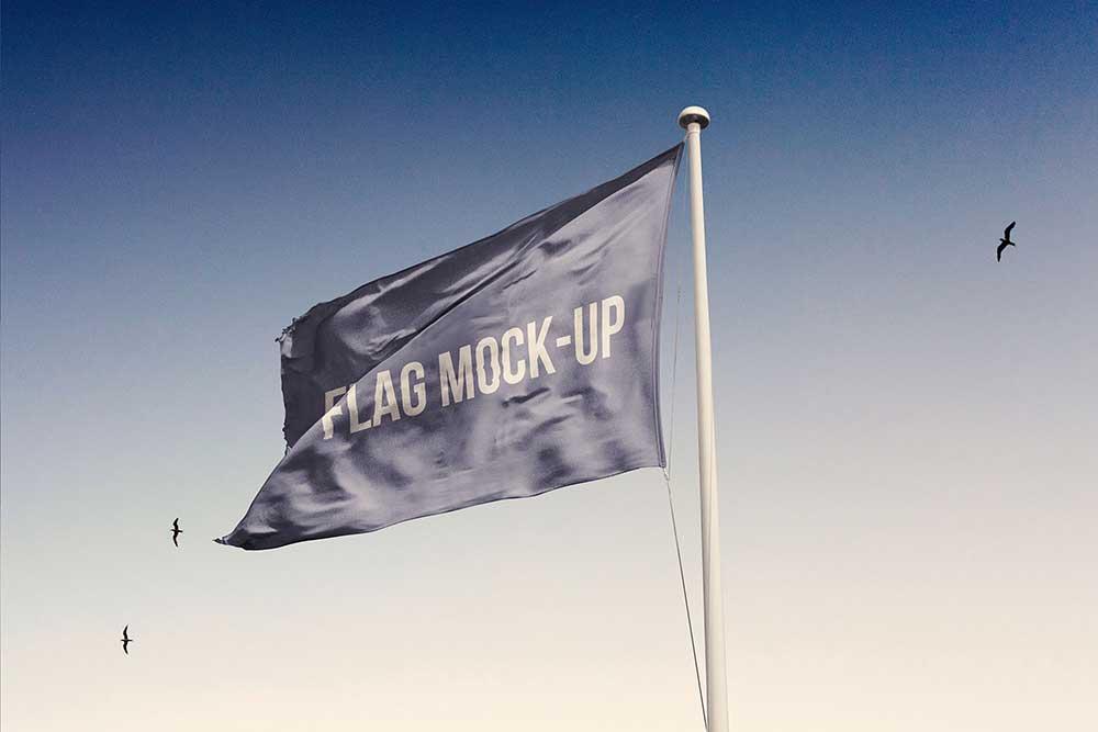 Free Download Flag Mockup In Psd For Your Presentation Designhooks