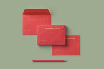 Free Envelope Set Mockup in PSD