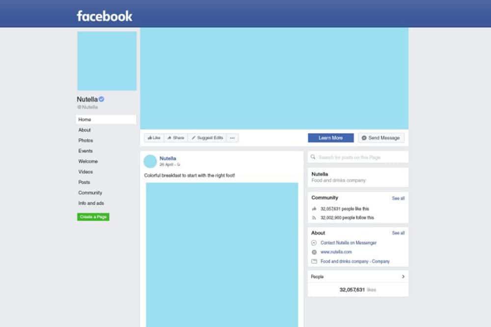 free facebook fan page mockup