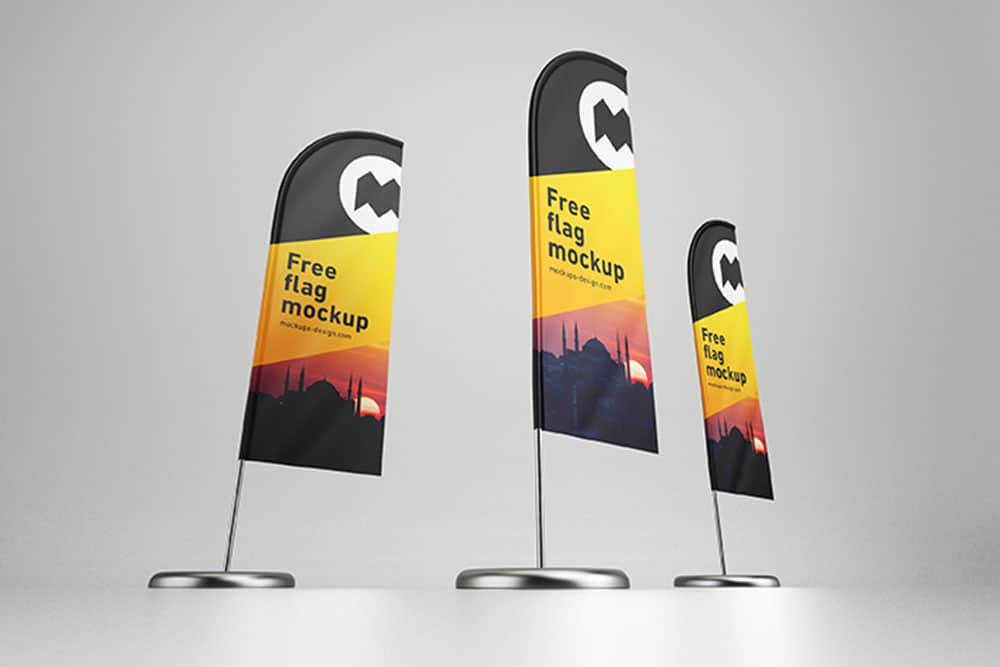 free feather flag mockup