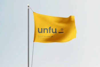 Awesome Free Flag Mockup